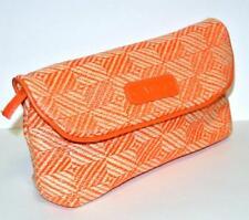 Cargo Cosmetics makeup bag Orange Beige flap clutch Zip Cosmetic Makeup Pouch ca