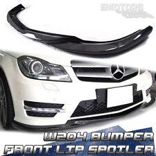 SHIP FROM LA Carbon Fiber For MB BENZ W204 Bumper Front Lip Spoiler Godhand LCI