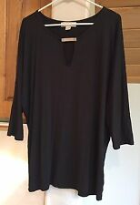 NEW Michael Kors XL black knit top batwing sleeves rayon and spandex $69.50