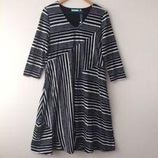 Viscose Stretch Dresses Stripes