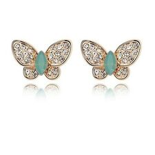18K Rose Gold Plated Butterfly Stud Earrings made With Swarovski Crystal E818-44