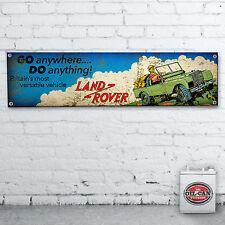 Clásico Cuero Land Rover BANDERA – 1700 x 430mm TALLER, habitación HOMBRE