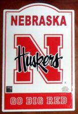 "Nebraska Cornhuskers Metal Sign GO BIG RED 11 1/2 X 17 1/2"" New Grad Gift L7"