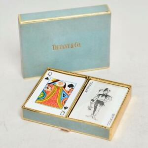 VINTAGE TIFFANY & CO. DOUBLE PACK OF PLAYING CARDS, W/BOX
