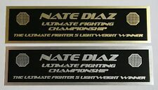 Nate Diaz UFC nameplate for signed mma gloves photo or case
