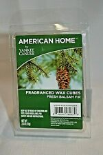 American Home by YANKEE CANDLE WAX Cubes Fresh BALSAM FIR Holiday FRAGRANCE