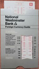 1970s Vintage Foreign Currency Guide National Westminster Bank Money Converter