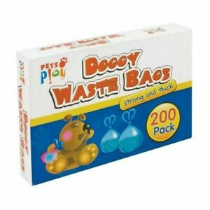 Dog poo bags Thick Strong and scented (200 pack)