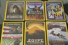 Lot of 6 NATIONAL GEOGRAPHIC DVD Collection Arlington Lewis Clark LostTreasures