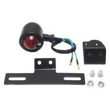 1pcs Black Universal Motorcycle Brake Stop Turn Rear Tail Light Lamp Plating