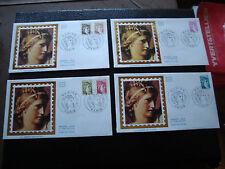 FRANCE - 4 enveloppes 1er jour 10/1/1981 (sabine) (cy48) french