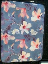 "SOCIETY 6 Pink & Blue Floral Butterfly 13"" Laptop Case"