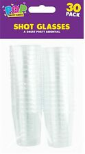 30 x Bulk Clear Disposable Plastic Shot Glasses Jelly Cups Tumblers Birthday