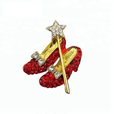 Red Heel Shoes Brooch Pin Crystal Brooch Alloy Jewelry Nurse Wedding Gift