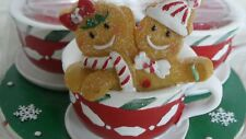 Yankee Candle Gingerbread Men Teacup Votive Holder - Nwot