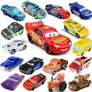 Disney Pixar Cars 1&2&3 McQueen Racing Diecast Auto Giocattolo Family 1:55 Loose