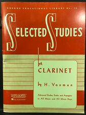 Rubank Selected Studies for Clarinet (Advanced) - Brand New