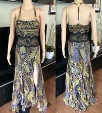 GIANNI VERSACE VINTAGE RUNWAY SEXY OPEN BACK DRESS GOWN IT 40 ICONIC!!!