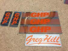 Old school BMX '83 - '84 GHP PRO / MINI / 24  frame fork stickers ORANGE decals