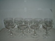 "9 Kosta Boda Champagne/Tall Sherbet Glasses Facette ? 4 3/4"""
