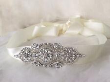 CARMEN Bridal Sash, Rhinestone, Pearl, Wedding Dress Sash, Bridal Belt, Diamante