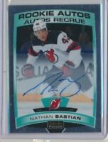 2019-20 O-Pee-Chee Platinum Rookie AUTOS R-NB Nathan Bastian New Jersey Devils
