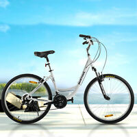 "26"" Women City Road Bike Aluminum 21 Speeds Front Suspension Shimano Bicycle"