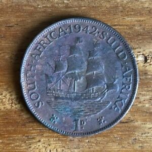 1942 South Africa  Penny Average Condition & Highly Collectible