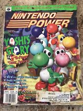 Nintendo Power Magazine Volume 104 Jan. 1998 Yoshi's Story Poster Is Mint!!