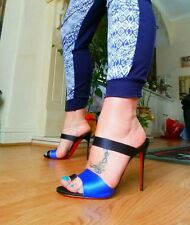 Christian Louboutin Royal Blue Muli Taglia 40.5/7.5
