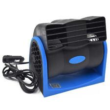 12V Blue Car Vehicle Truck Cooling Air Fan Speed Adjustable Silent Cooler
