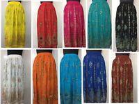 Womens Long Skirt India Traditional Clothing Designer for Spring Summer