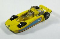 Vintage Corgi Juniors Hot Rodder yellow Die Cast Race Car Made Great Britain B12