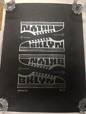 Skewville Brooklyn BKLYN Sneaker Toss Tar Paper Print Edition Of 10