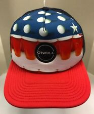 O'Neill Beer Pong Trucker Hat Snapback Cap Blue White Red Solo Cup Men OSFA