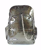 CHOK HOLO BRONZE 3D REFLECTIVE BACKPACK RUCKSACK Rave Unisex School College Bag