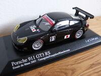 Porsche 911 996 GT3 RS Essais du Mans 2005 Japan Minichamps Modellauto 1:43