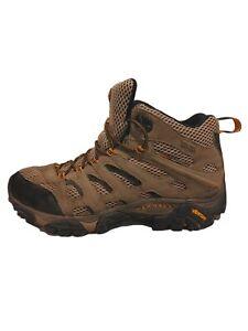 Merrell Moab Mid Gore-Tex XCR Dark Tan Hiking Shoes Boots J87311W Men's Size 8