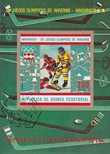Guinea Ecuatorial - Block 206 (774) / Olympia 1976 Innsbruck / Eishockey