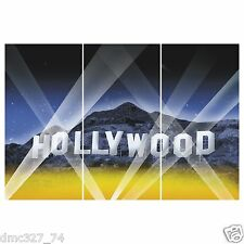 HOLLYWOOD HILLS Movie Night Awards Party Decoration Wall BACKDROP Prop 3pc Set