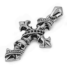 Pirate's Cross 316L Stainless Steel Pendant