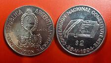 ARGENTINA COMM. COIN 2 Pesos KM114 UNC 1994 - Convencion Nacional Constituyente