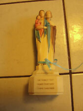 OUR FAMILY ROSARY CONTAINER, THE TOP LIFTS OFF BOTTOM