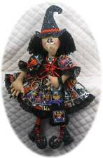 """~~~Primitive Raggedy 29"""" Halloween Witch & Cat PATTERN #117~~~"""