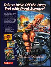 ROAD AVENGER__Original 1993 Print AD / Sega CD game promo__Renovation advert