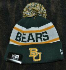 Baylor Bears NEW ERA Official NCAA Youth OSFM Pom Knit Winter Beanie Hat Cap NWT