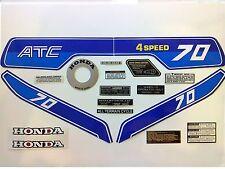 Sticker Set - Honda ATC 70 1982 - Vintage Trike Stickers - Free Post UK