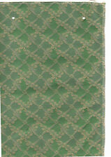 Material sample just over 11.5 inches long x 8.5 inches wide green patterned new