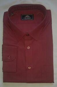 New Rael Brook Wine Long Sleeve Shirt 18.5 Inch Collar