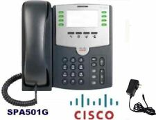 CISCO SPA501G 8-Line IP Phone with 2 Port Switch PoE +Power Supply Adaptor+Stand